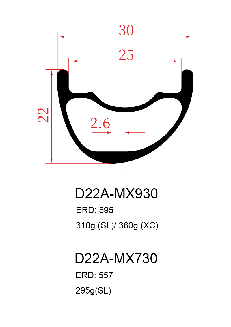 30mm mtb carbon rims asymmetric